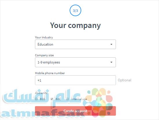 create a livechat account step three - طريقة اضافة الدردشة الحية في الووردبريس